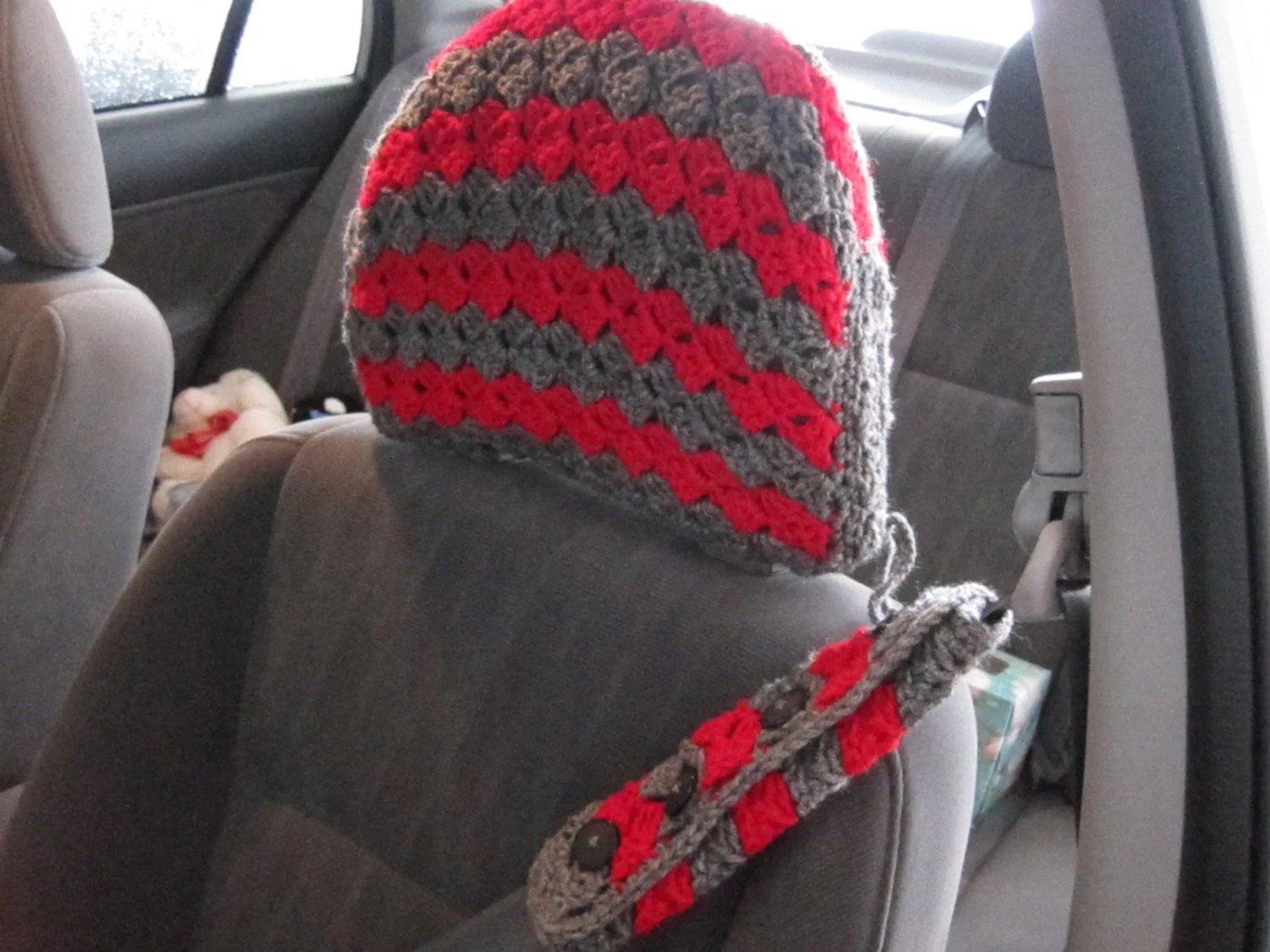 Crochet Pattern Car Front Seat Headrest Cover 13vc2013