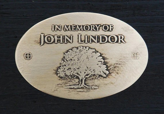 Personalized Plaque For A Memorial Garden Bench