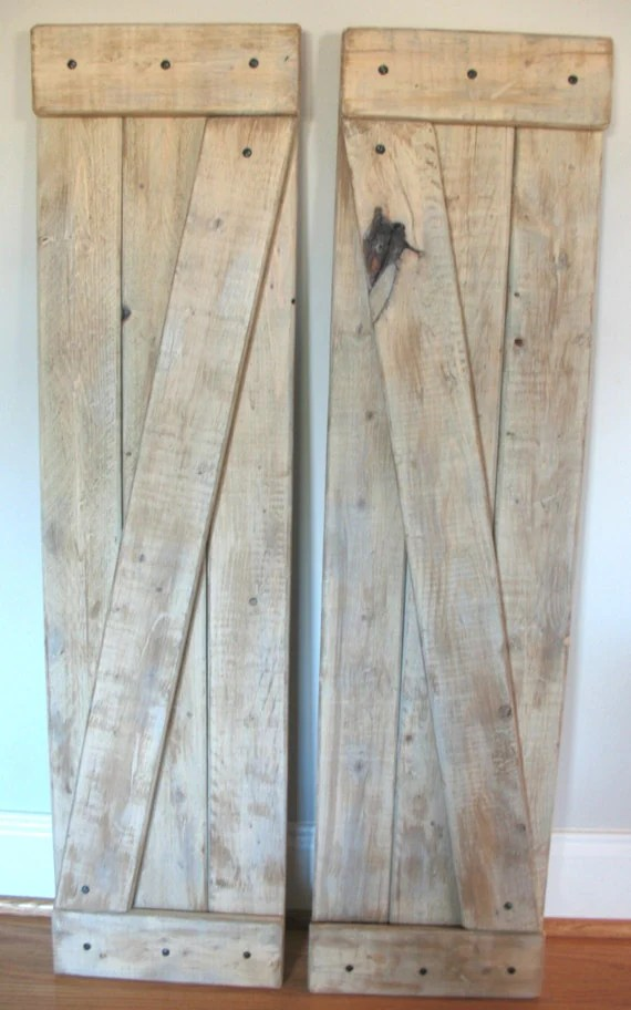 Large Farmhouse Shutters Set Of 2 Barn Door Rustic Home