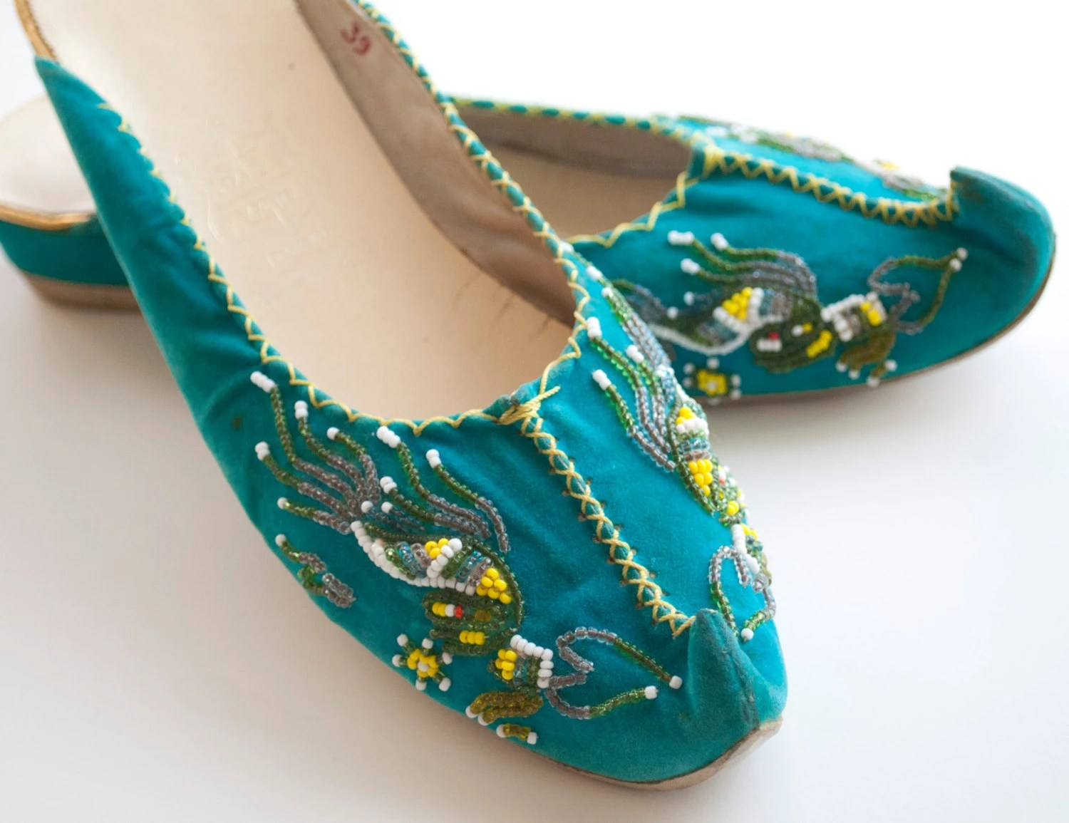 Items similar to Vintage 60s Formal House Shoes - Mod ...