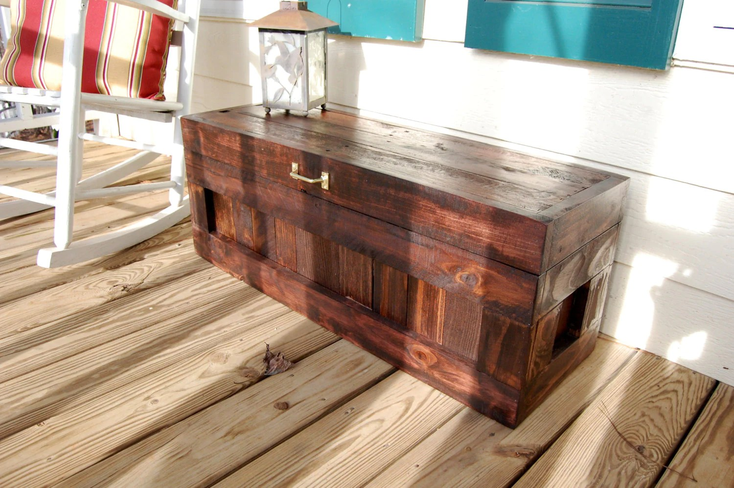 Red Mahogany Hope Chest Toy Box Blanket Storage From