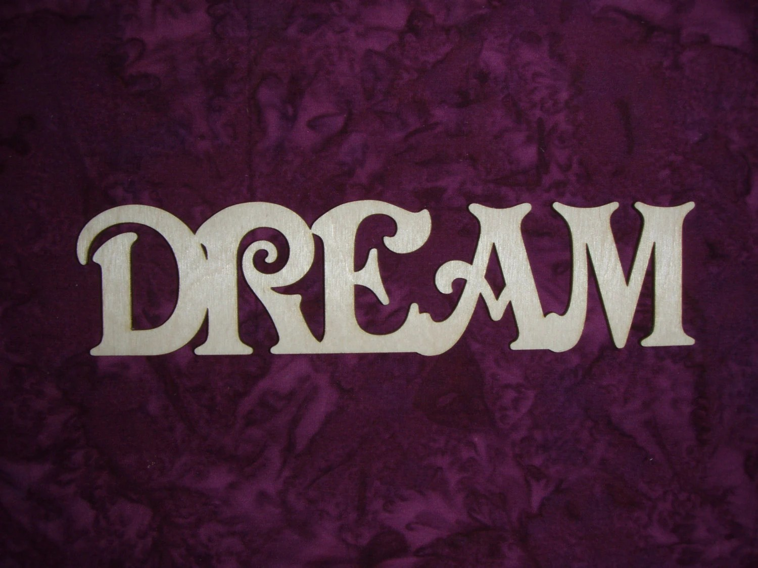 Dream Unfinished Wood Word Cut Out Connected Wooden Letters