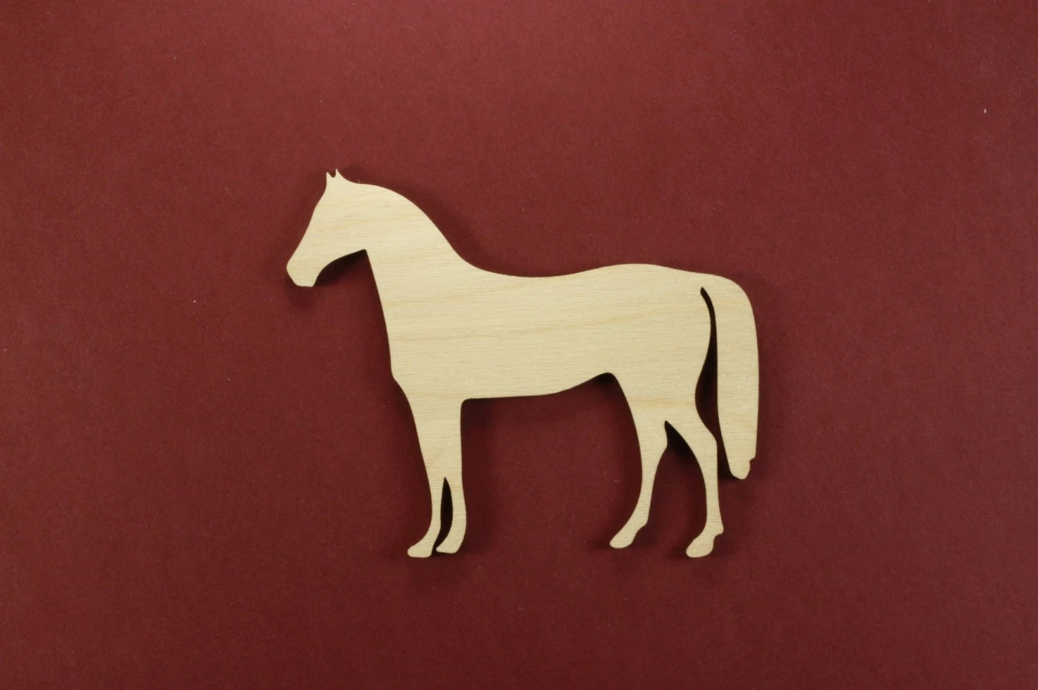 Horse Shape Unfinished Wood Laser Cut Shapes Crafts Sold In