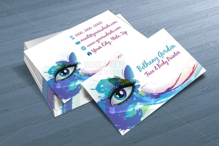 Custom Printable Face Painter Business Card Template  Makeup artist     Il 570xn