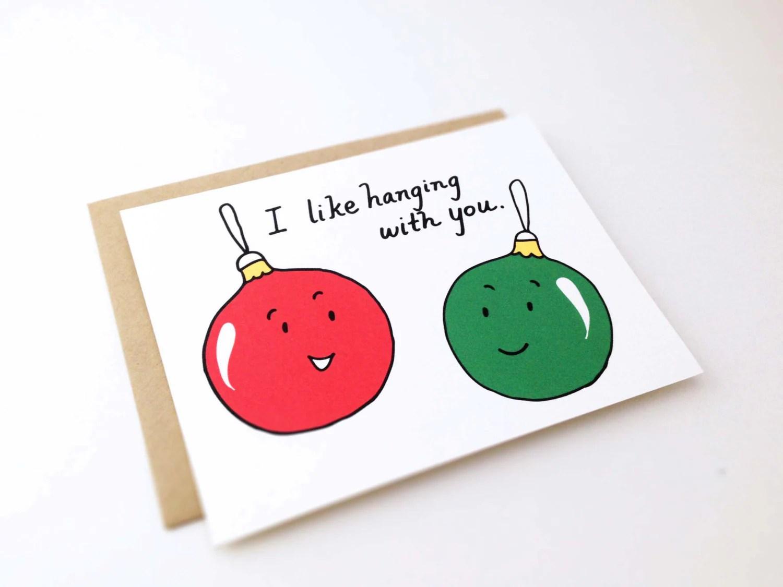 Cute Best Friend Christmas Card // Punny by EuclidStreetShop