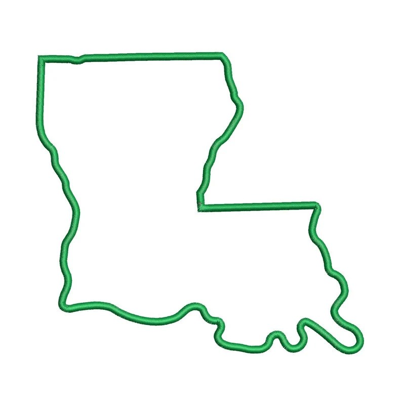 Louisiana State Outline Simple Pictures to Pin on ...