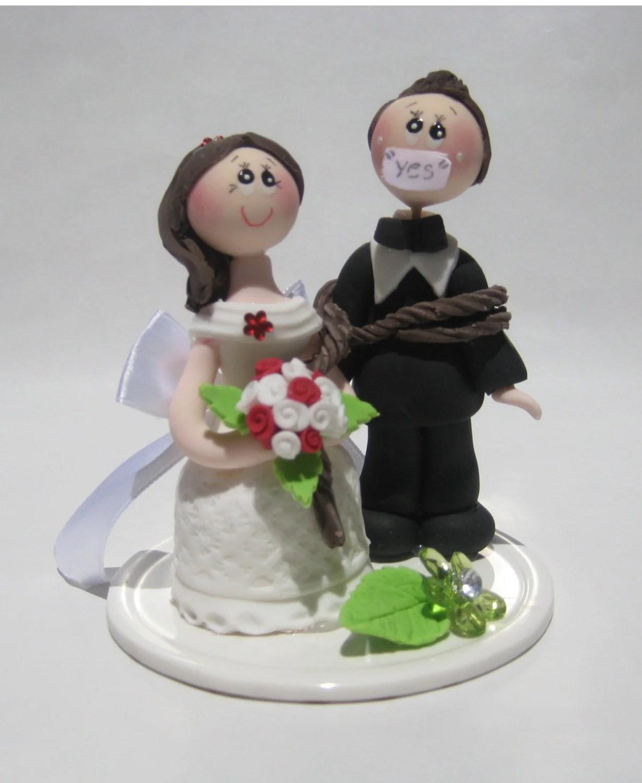 Wedding cake topper funny wedding cake topper cake topper