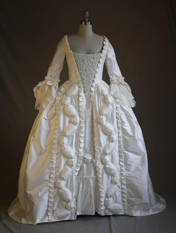 Custom Marie Antoinette Pearl Wedding Gown