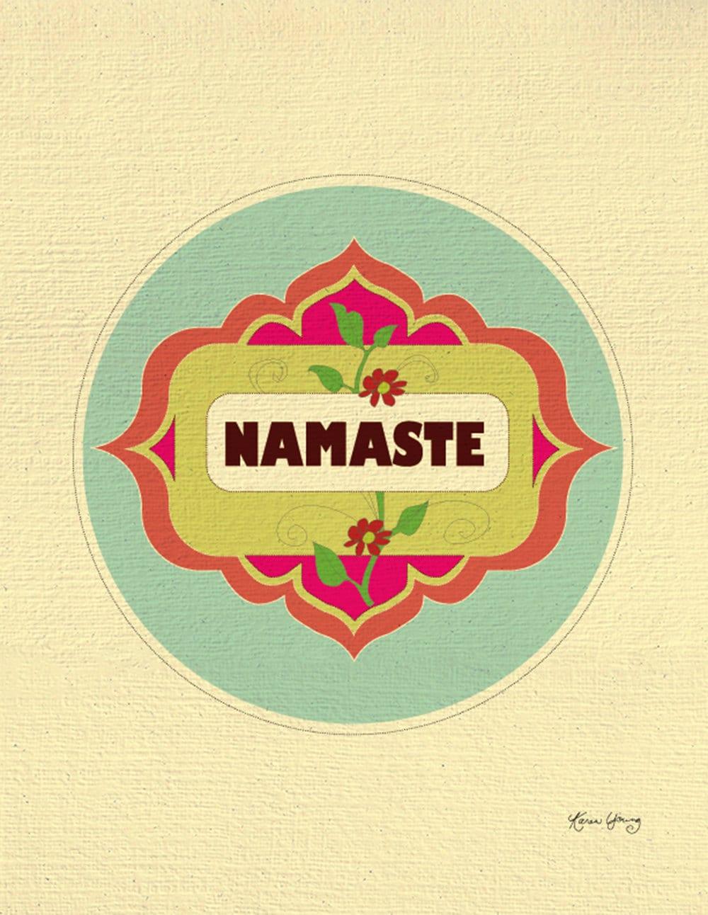Namaste Print Yoga Art Yoga gift Yoga Design Namaste note