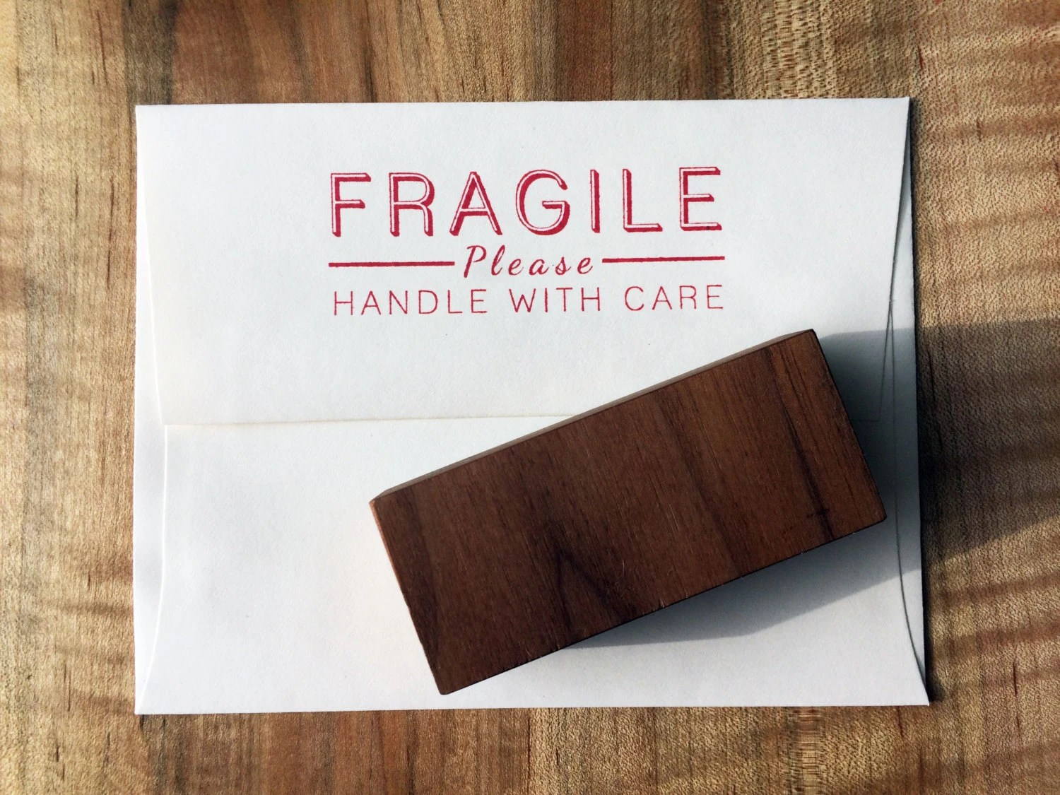 Fragile Rubber Stamp handle with care stamp by RusticKraft ...