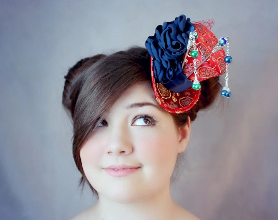 Chinese Hat Chinese Hair Accessories Chinese Mini Top Hat