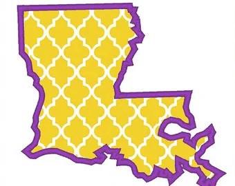 Louisiana outline | Etsy