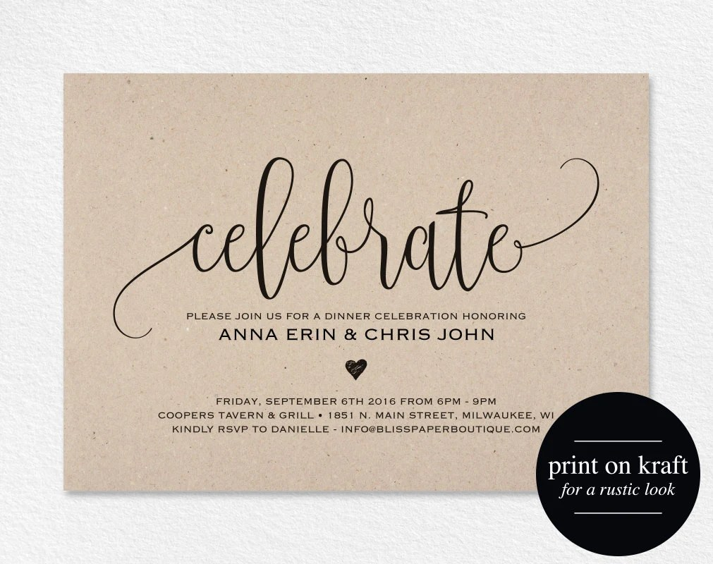 Printable Dinner Invitations