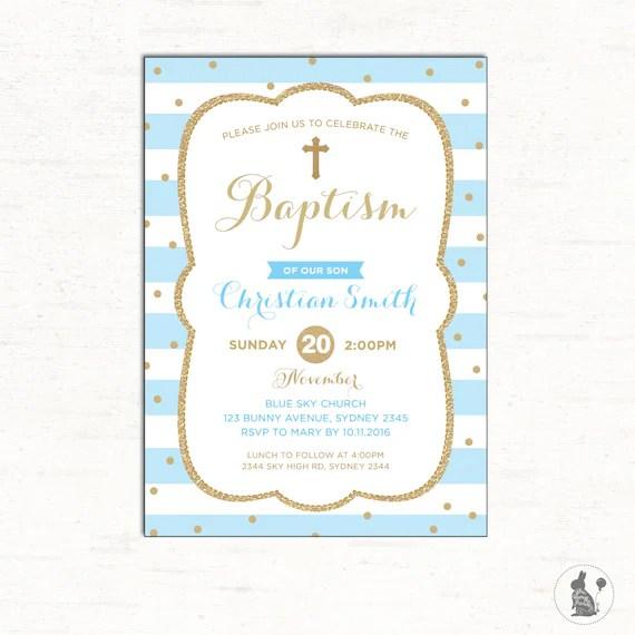 Unique Boy Baptism Invitations