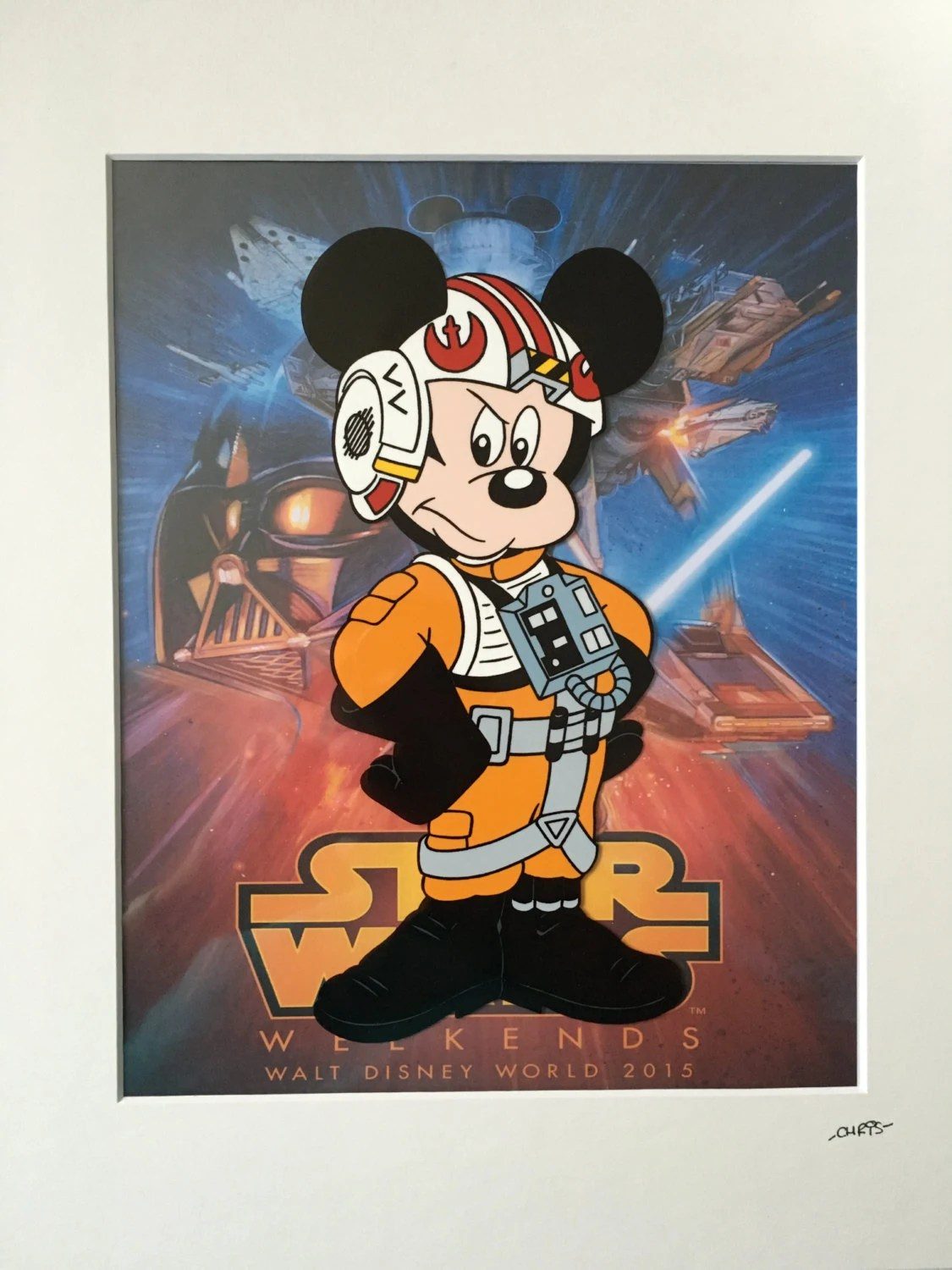 Star Mickey Mouse Disney Wars