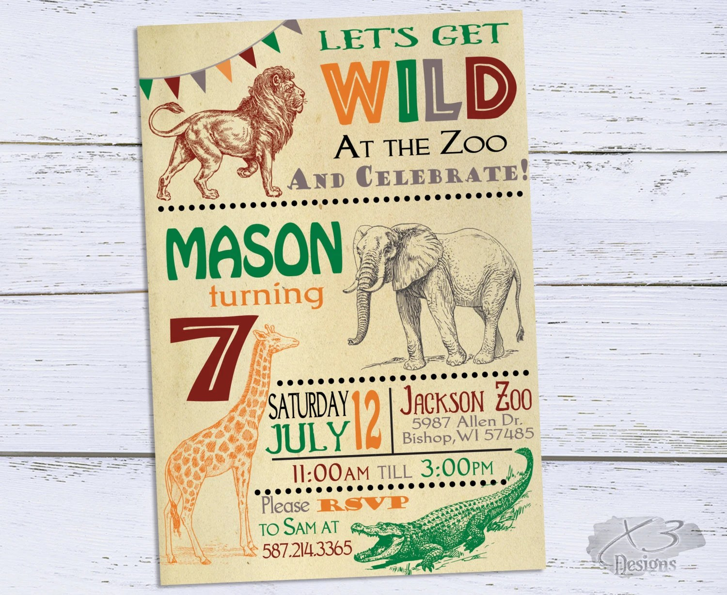 Printable Zoo Invitations