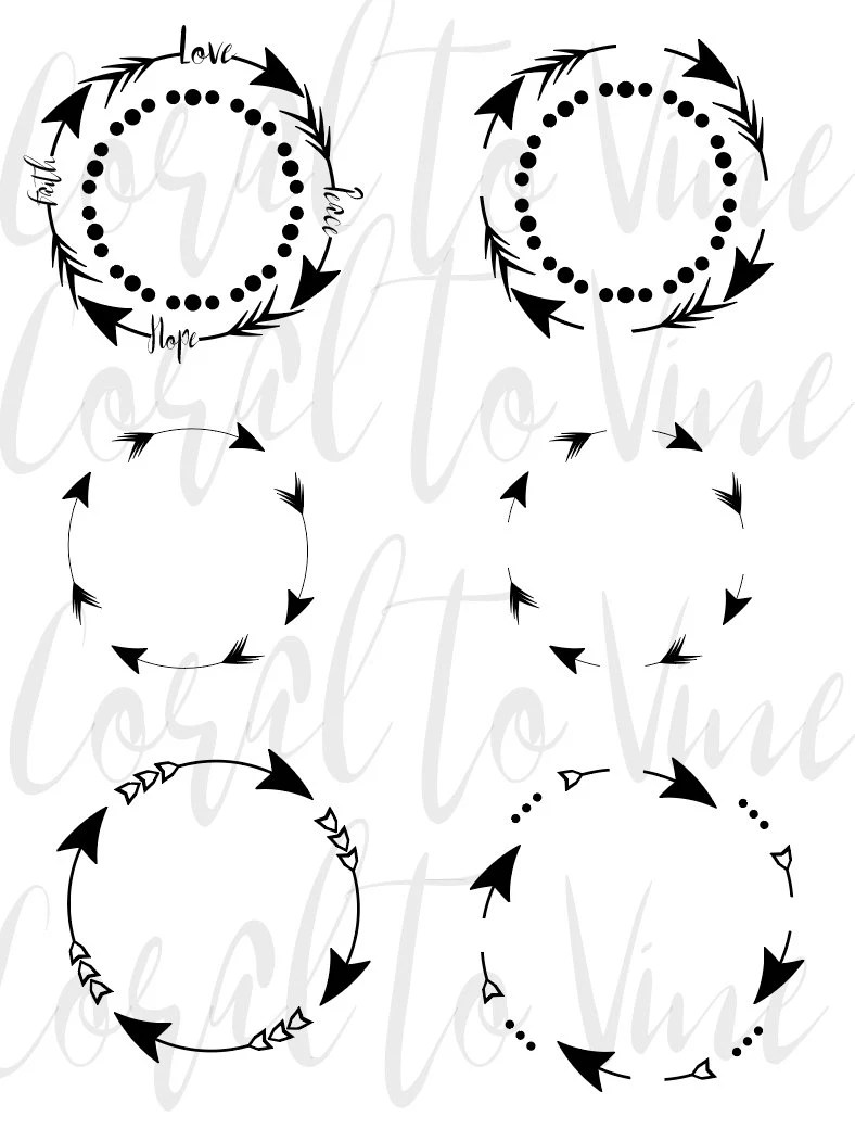 Monogram Arrow Free Circle Svg