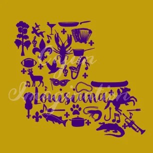 Louisiana Silhouette Cut File and Printable by ...