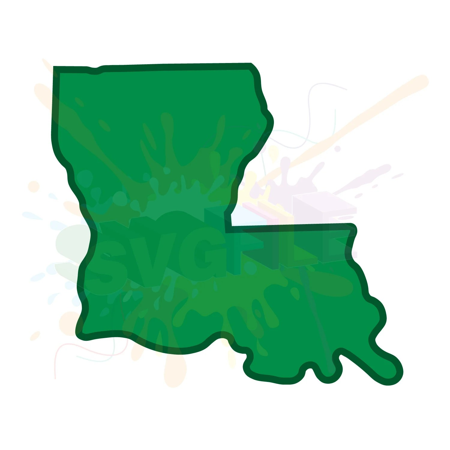 Louisiana SVG Files for Cutting Southern Cricut State Designs