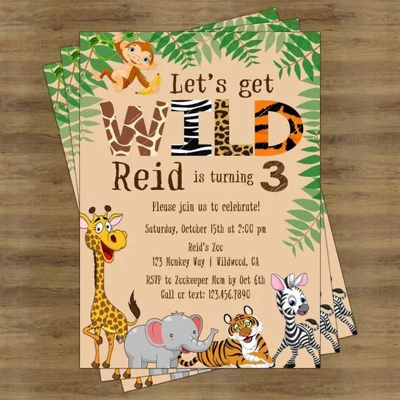Birthday Invitations Jungle Theme