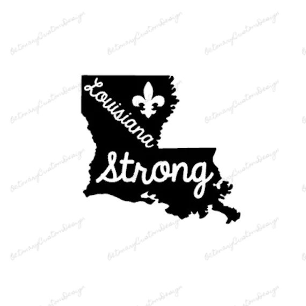 Digital Louisiana Strong Monogram Cuttable SVG JPG PNG Pdf