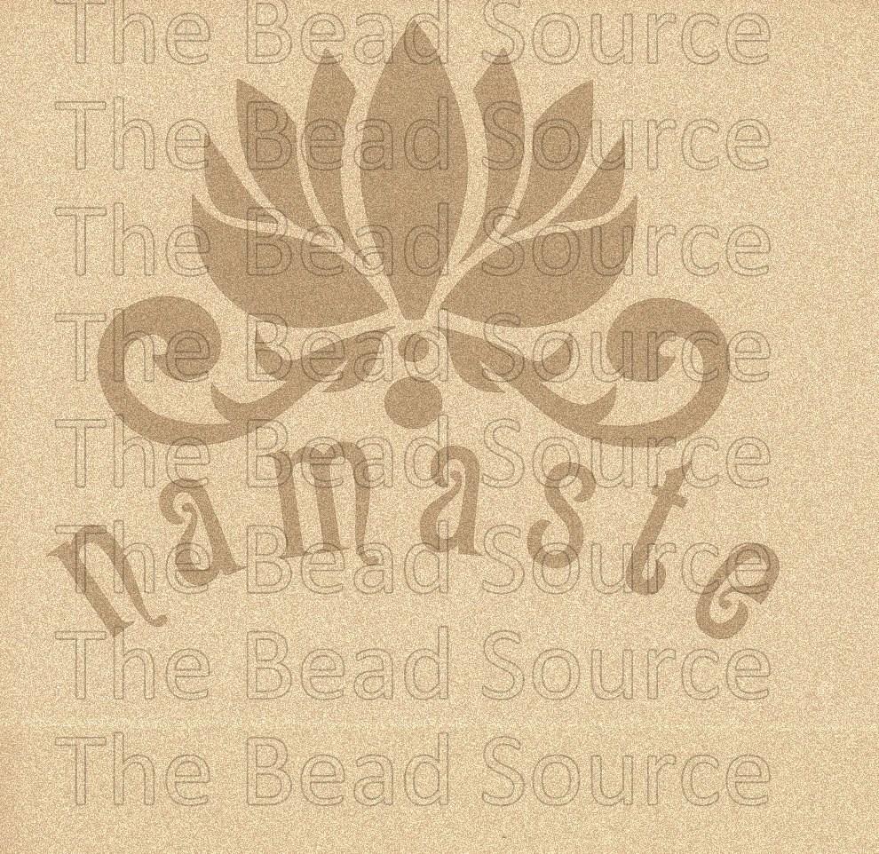 Namaste Stencil Lotus Flower Stencil Word Stencil Yoga