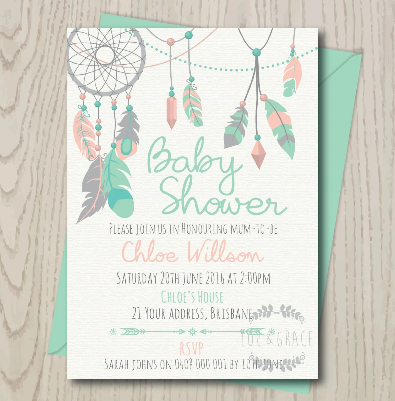Diy Baby Shower Invitations Girl
