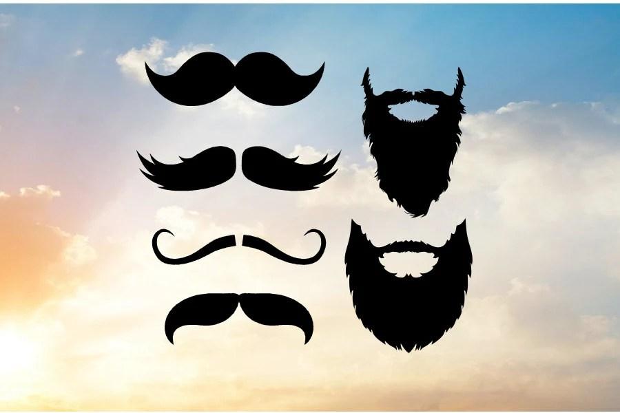 Mustache Beard No Short