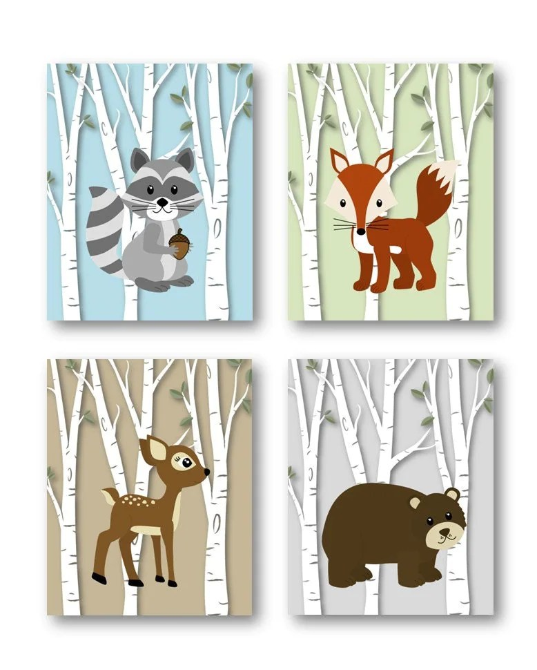 Woodland Nursery Decor // Woodland Nursery Art // by ...