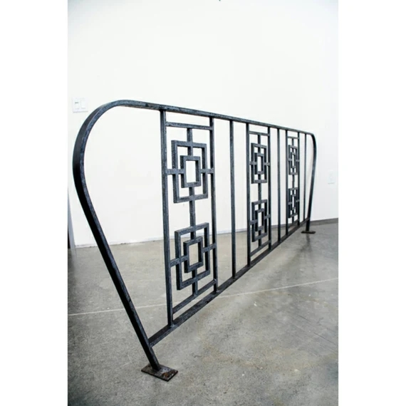 Items Similar To Sold Mid Century Modern Railing Wrought | Mid Century Modern Stair Railing