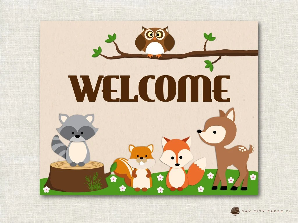 Woodland Animal Baby Shower Decorations Woodland Animal Baby