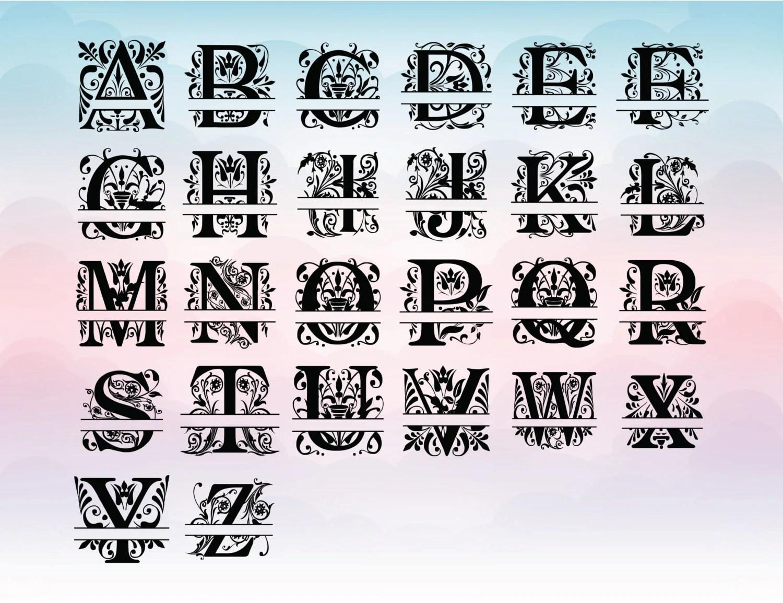 Split Regal Font Monogram