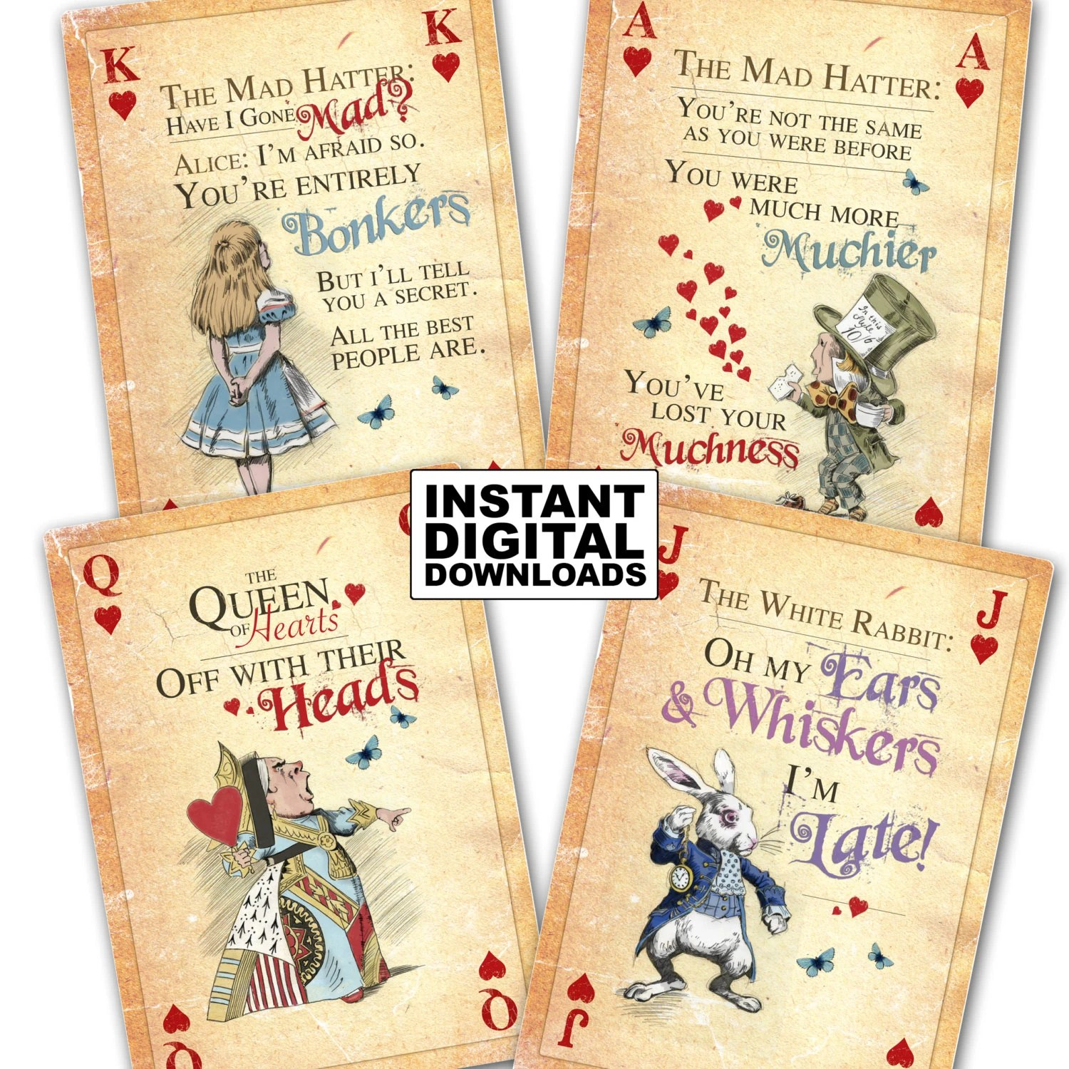 Giant Queen Hearts Card Template