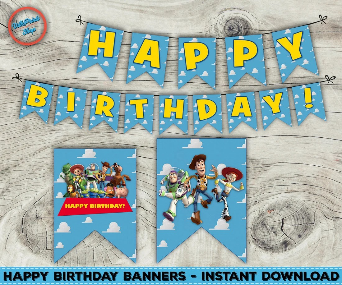 Printable Toy Story Banner