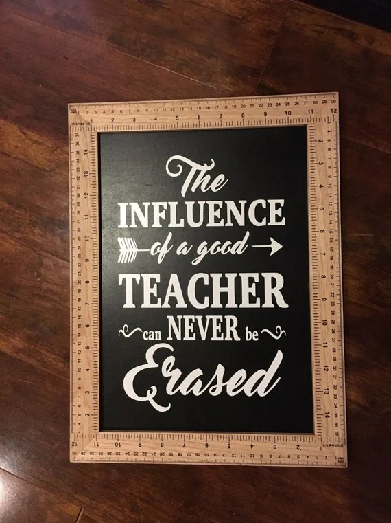 12x15in Ruler Framed Chalkboard Sign Classroom Decor Teacher