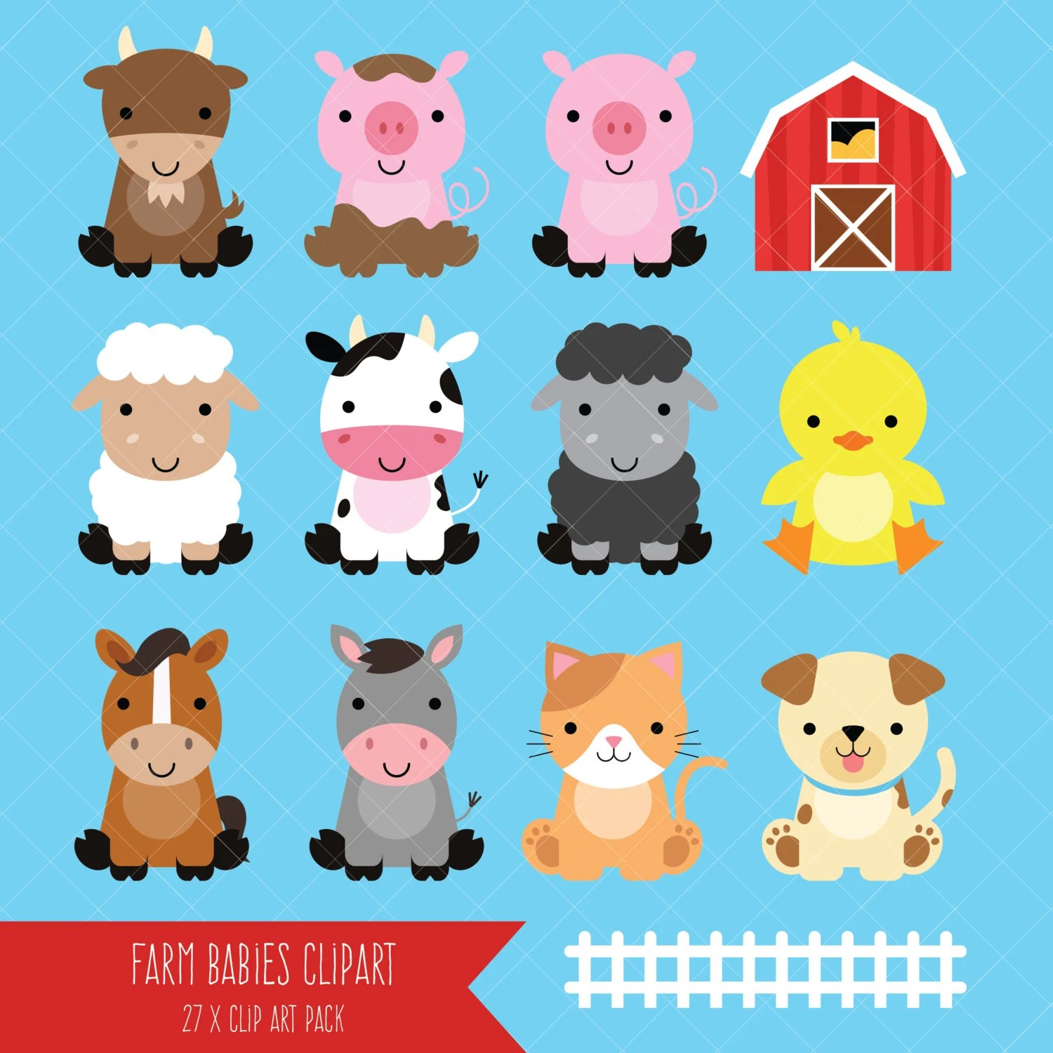 Art Animals Clip Barn Cute