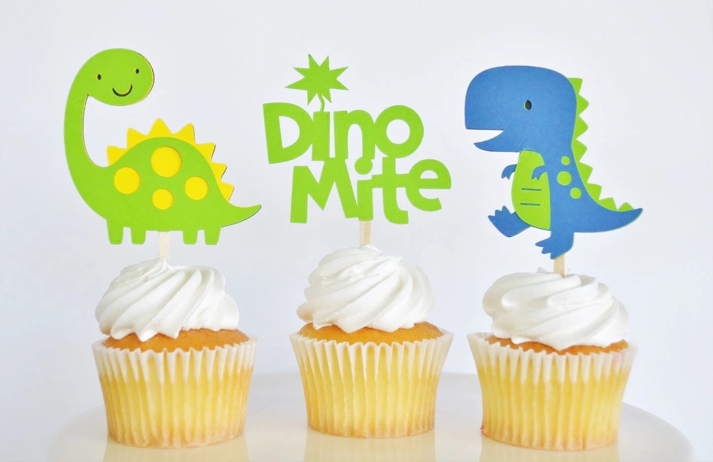 Baby Dinosaur Cupcake Toppers