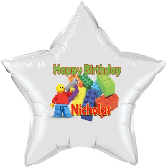 Happy Birthday Star Shaped Balloons