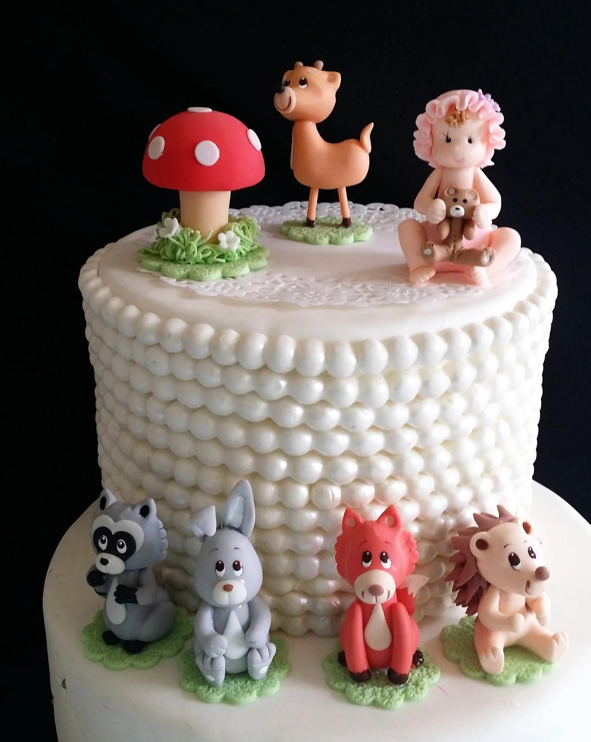 Forest Baby Animals Fox Cake Topper Woodland Cake