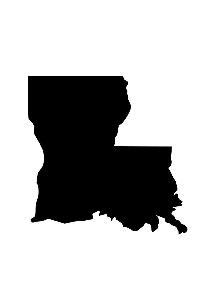 Louisiana decal | Etsy