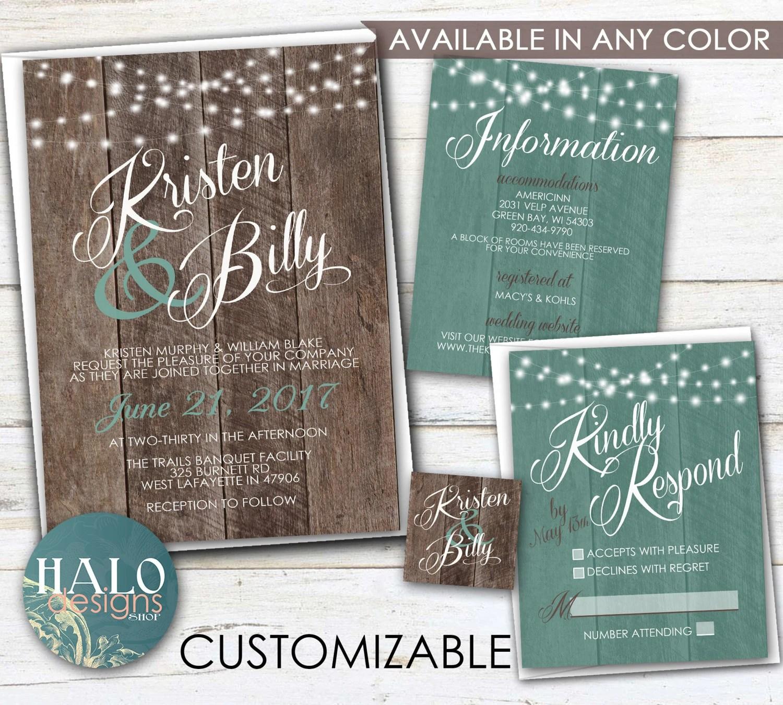 Country Wedding Invitation Kits