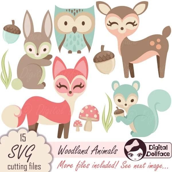 Animal SVG Deer Cut Files Woodland SVG Cutting Files Owl