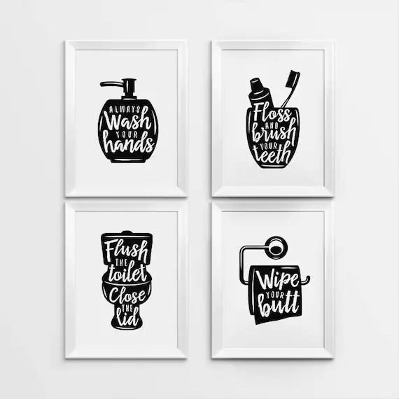 Bathroom Decor Printables