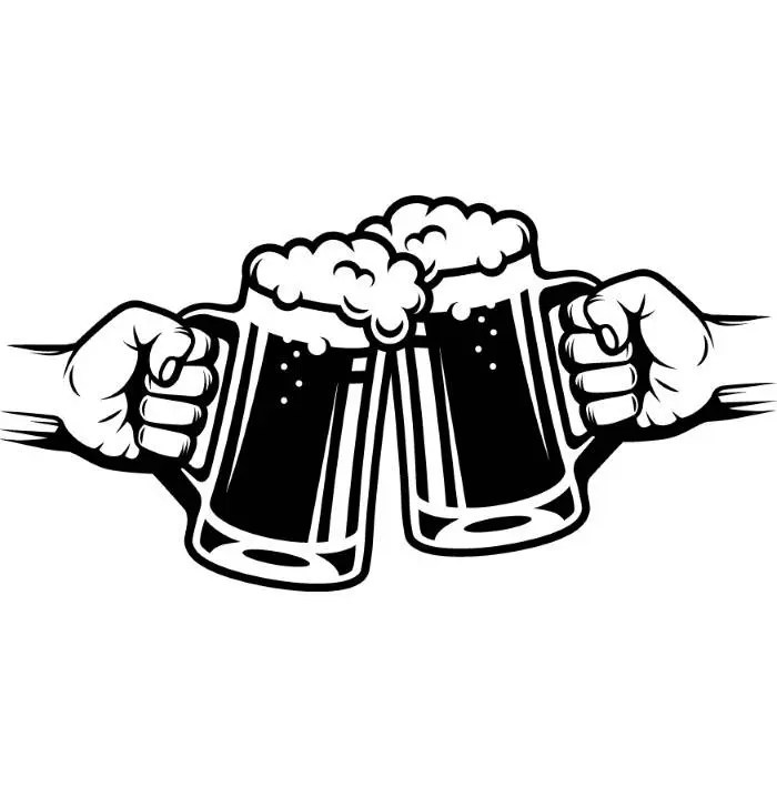 Black And Beer White Logos