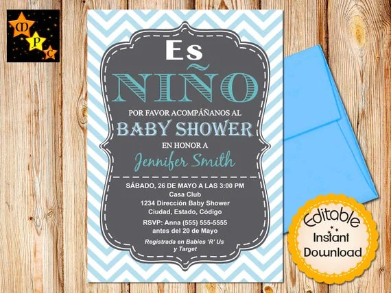Baby Shower Invitation Quotes Spanish