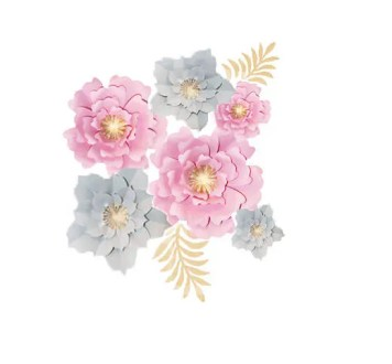 Paper Flower Wall Decor Set   Paper Flower Backdrop  Large Paper     Il 570xn