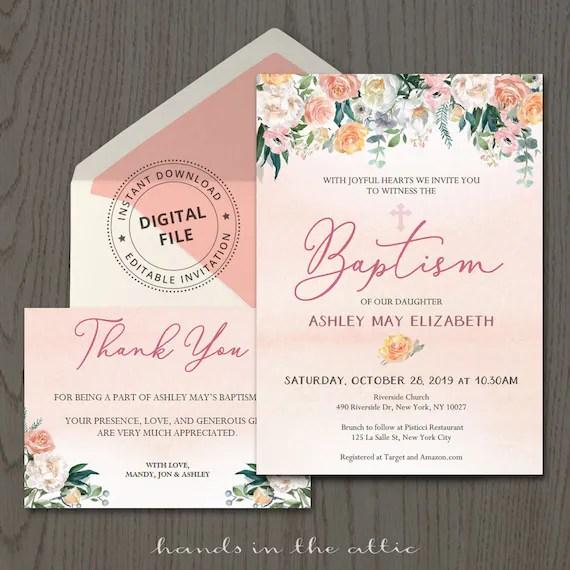 Invitation Card Design Christening