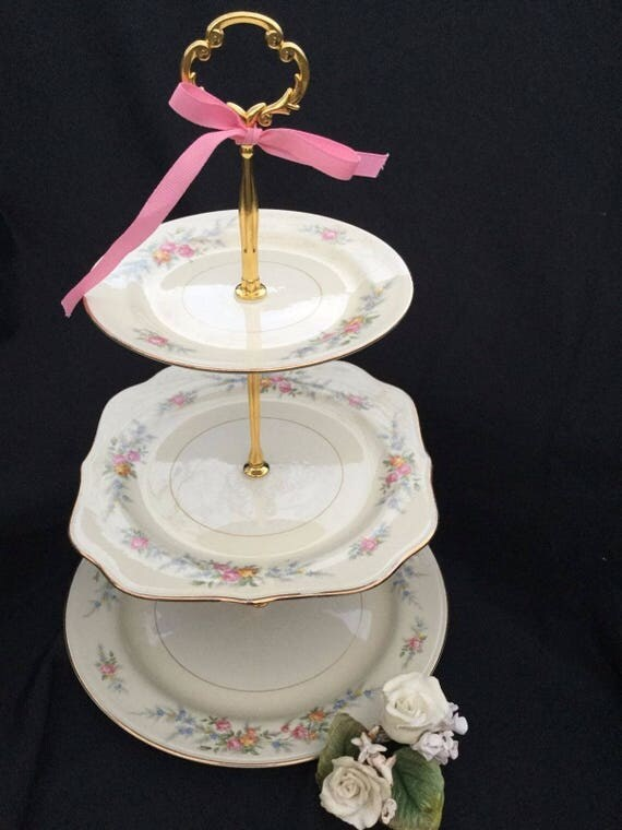 3 Tier Wedding Cake Stand  3 Tier Cupcake Stand  3 Tier Pastry Stand     Il 570xn