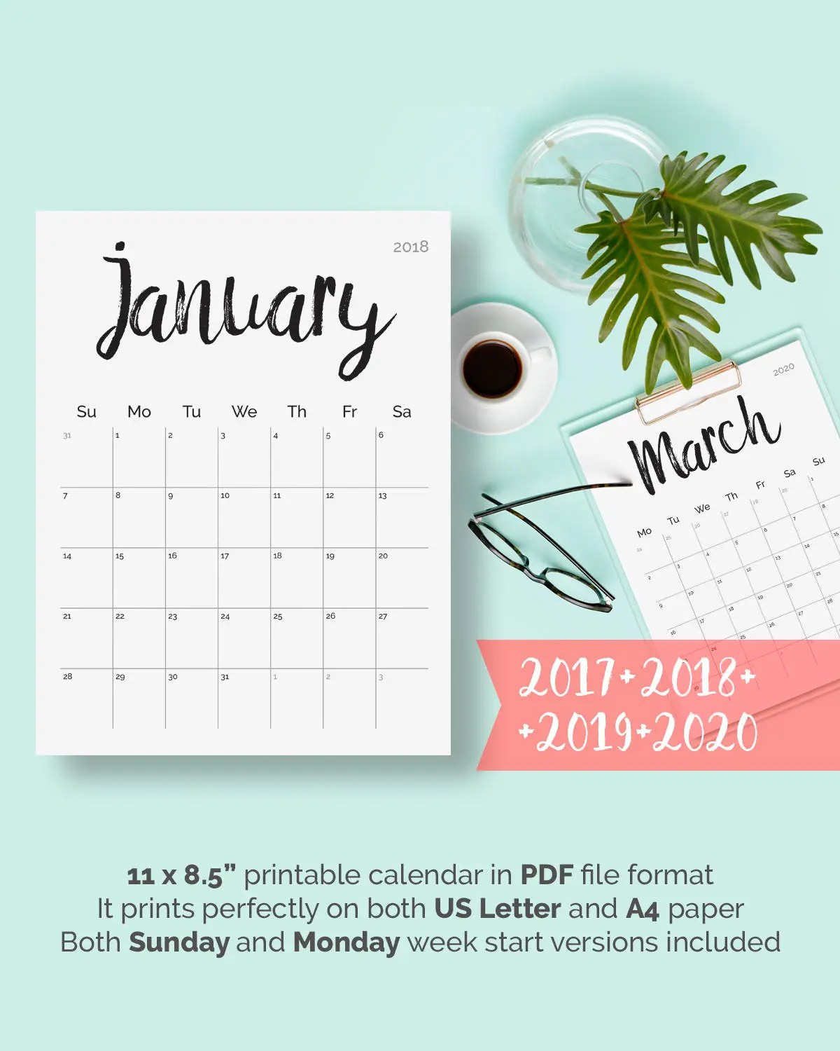 Planner Pages Monthly 2019 Printable