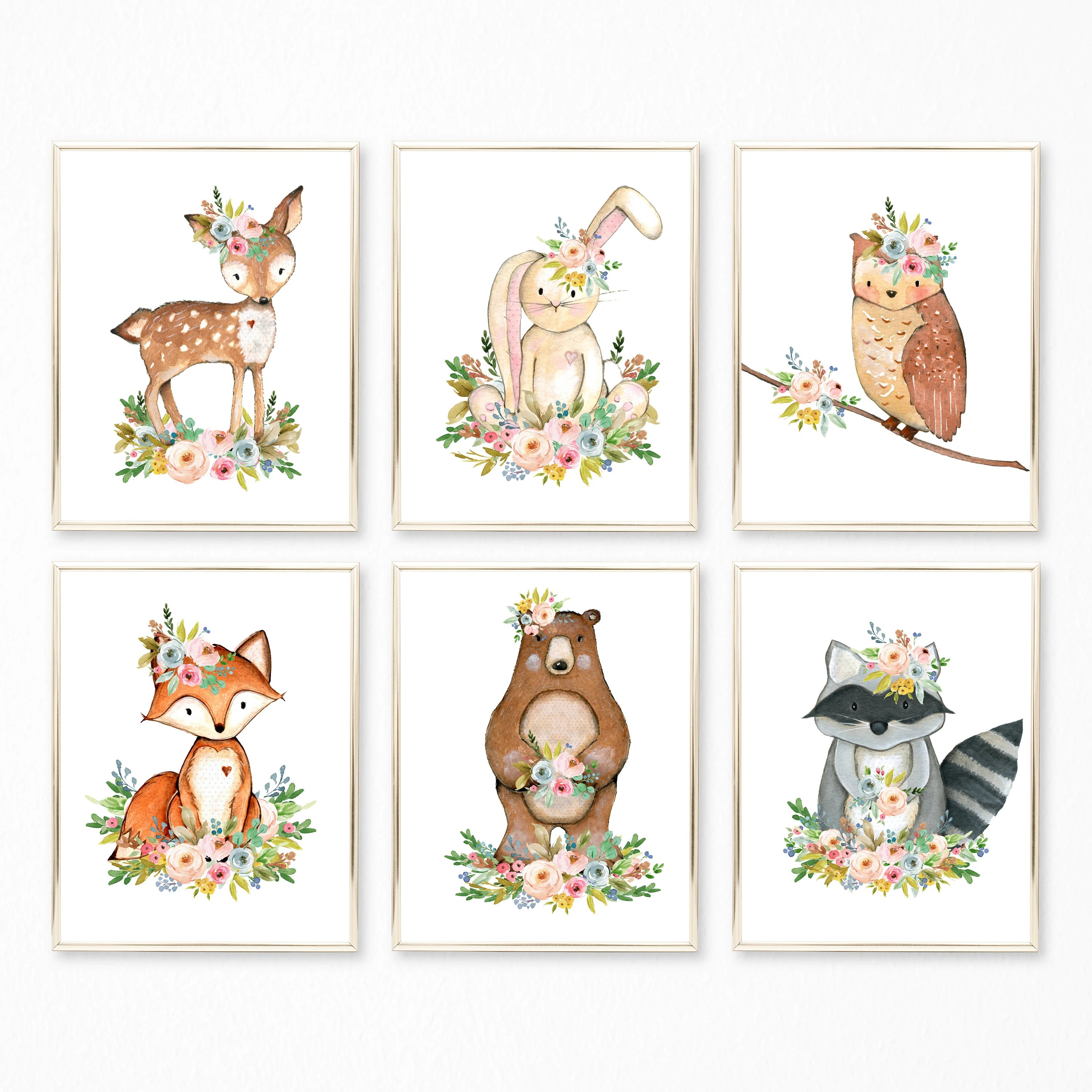 Woodland Nursery Art. Woodland Nursery Decor. Boho Woodland